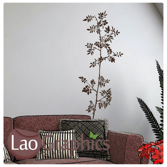 Tall Tree Branch Decorative Nature Wall Stickers Home Decor Art Decals-LaoGraphics