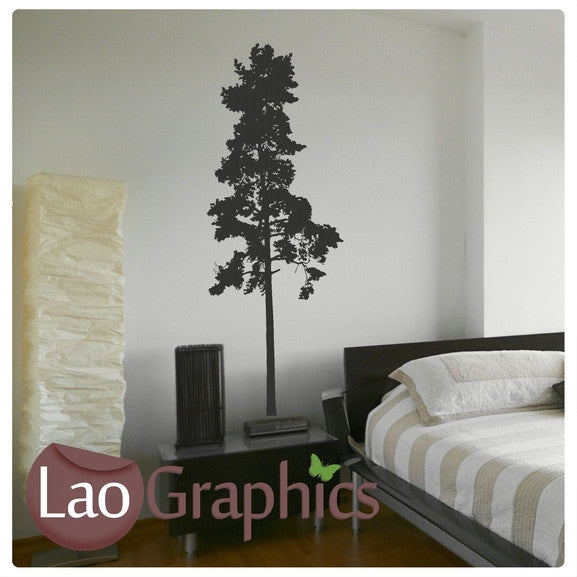 Tall Tree Nature Wall Stickers Home Decor Large Tree Art Decals-LaoGraphics