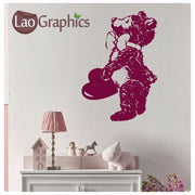 Teddy Bear & Love Heart Wall Stickers Home Decor Art Decals-LaoGraphics