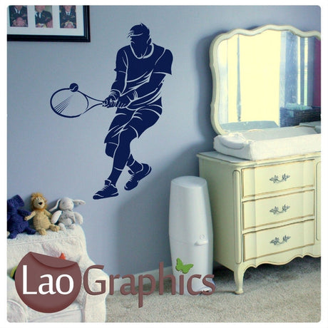 Tennis Boys Sports Wall Stickers Home Decor Art Decals-LaoGraphics