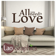 The Beatles - All You Need is Love Romantic Quote Wall Stickers Home Decor Love Art Decals-LaoGraphics