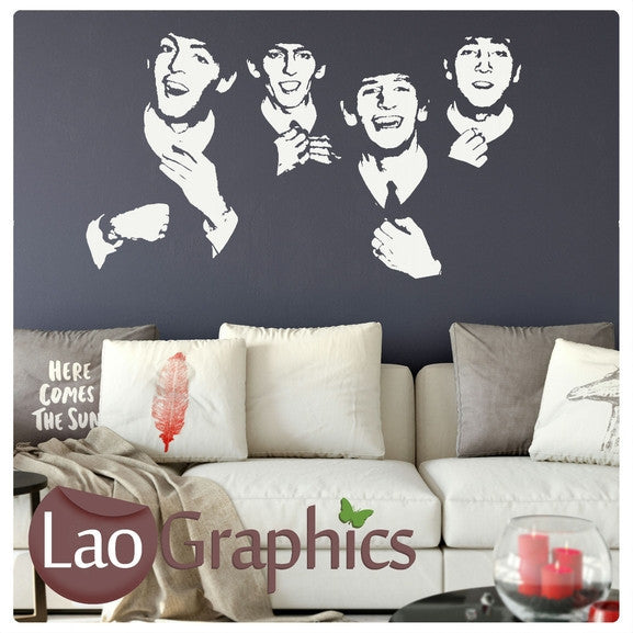 The Beatles Wall Stickers Negative Home Decor Art Decals LaoGraphics