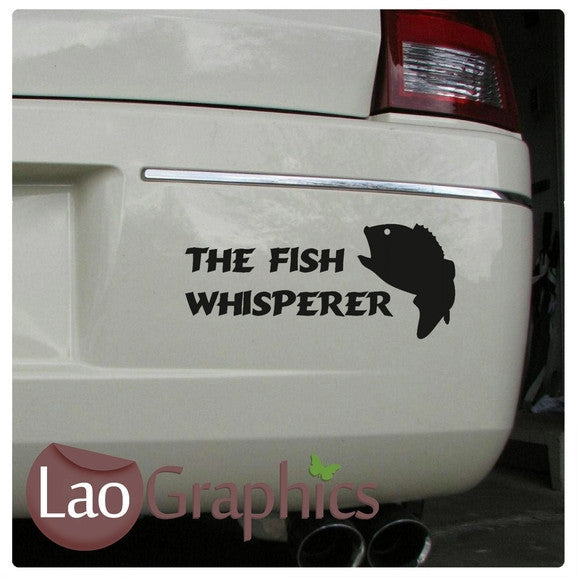 The Fish Whisperer Bumber / Boys Aquatic Wall Stickers Home Decor Art Decals-LaoGraphics