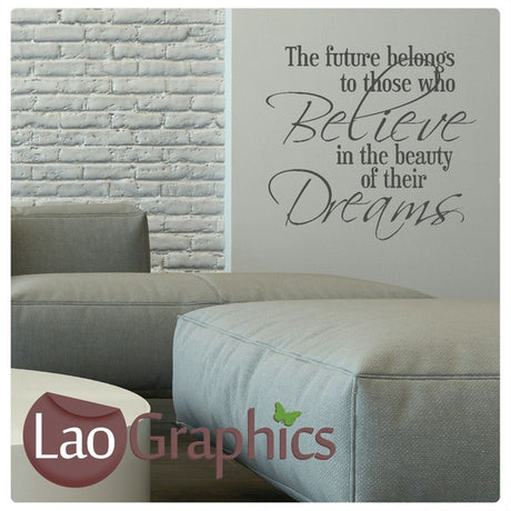 The Future Belongs Too Inspiring Quote Wall Stickers Home Decor Art Decals-LaoGraphics