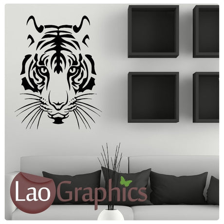 Tiger Head Wild Animals Large Kitty Wall Stickers Home Decor Art Decals-LaoGraphics