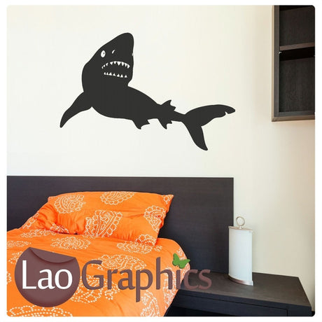 Tiger Shark Boys Aquatic Wall Stickers Home Decor Art Decals-LaoGraphics