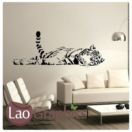 Tiger Wild Animals Large Kitty Wall Stickers Home Decor Art Decals-LaoGraphics