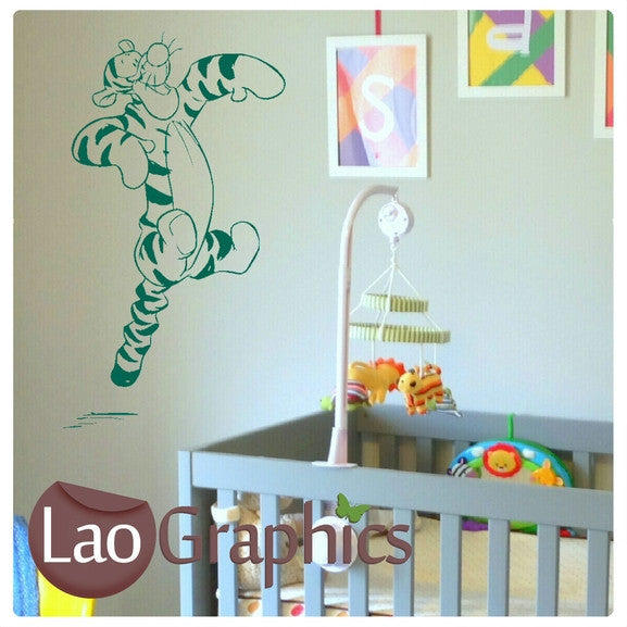 Tigger Wall Stickers (Winnie the Pooh) Home Decor Art Decals-LaoGraphics