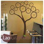 Time Tree Nature Wall Stickers Home Decor Large Tree Art Decals-LaoGraphics