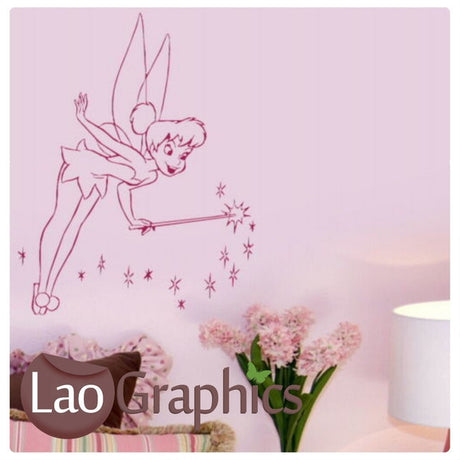 Tinkerbell & Fairy Dust Wall Stickers Home Decor Art Decals-LaoGraphics