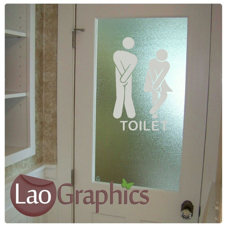 Toilet / Lavatory Sign Wall Sticker Home Decor Art Decals-LaoGraphics