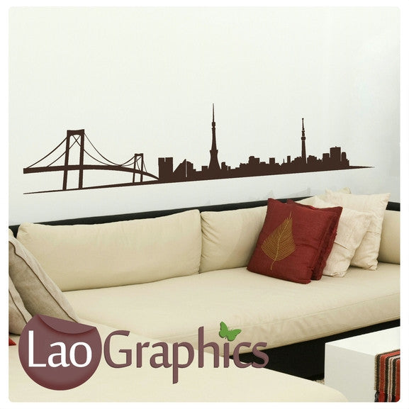 Tokyo Skyline City Scape Wall Stickers Home Decor Art Decals-LaoGraphics