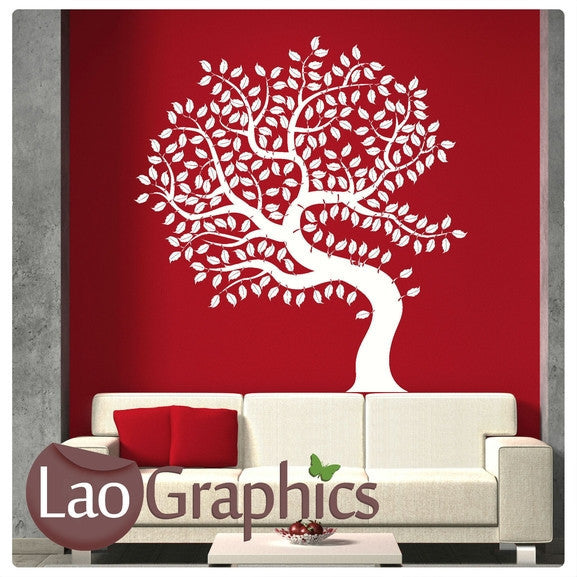 Tree of Life Nature Wall Stickers Home Decor Large Tree Art Decals-LaoGraphics