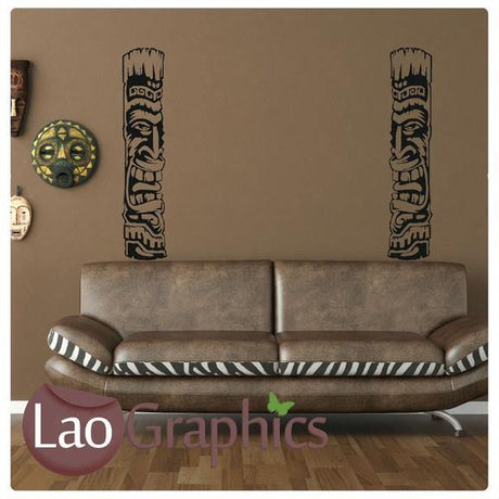 Tribal Columns African Wall Sticker Home Decor Africa Art Decals-LaoGraphics