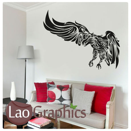 Tribal Eagle Wall Sticker Home Decor Art Decals-LaoGraphics