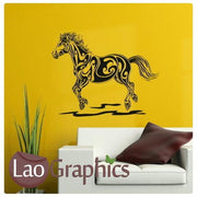 Tribal Horse Girls Room Wall Stickers Home Decor Animal Art Decals-LaoGraphics