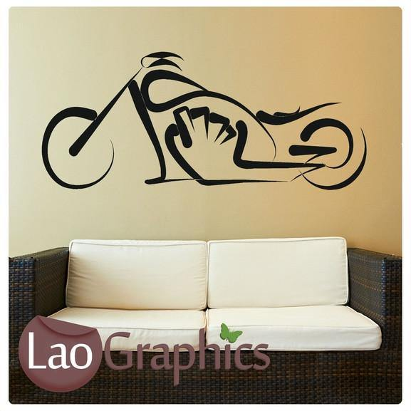 Tribal Motorbike Vehicle & Transport Wall Stickers Home Decor Art Decals-LaoGraphics