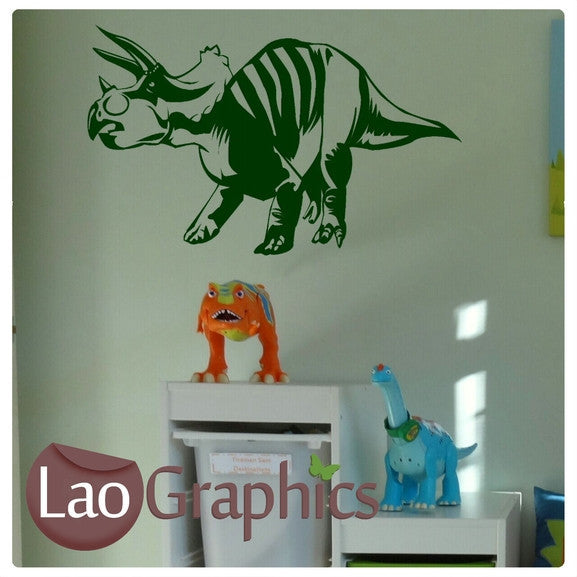 Triceratops Dinosaur Boys Bedroom Wall Stickers Home Decor Art Decals-LaoGraphics