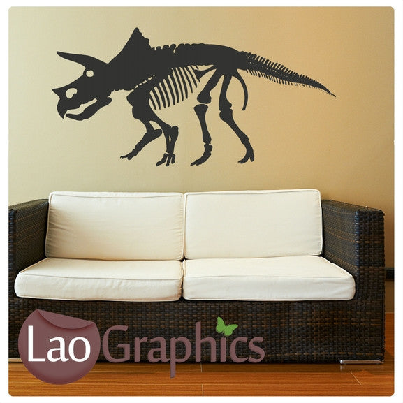 Triceratops Skeleton Boys Bedroom Wall Stickers Home Decor Art Decals-LaoGraphics