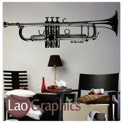 Trumpet Musical Wall Stickers Home Decor Music Art Decals-LaoGraphics