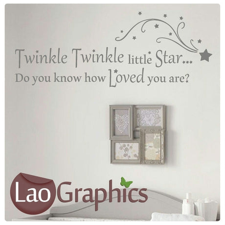Twinkle Twinkle Little Star Wall Stickers Home Decor Art Decals-LaoGraphics