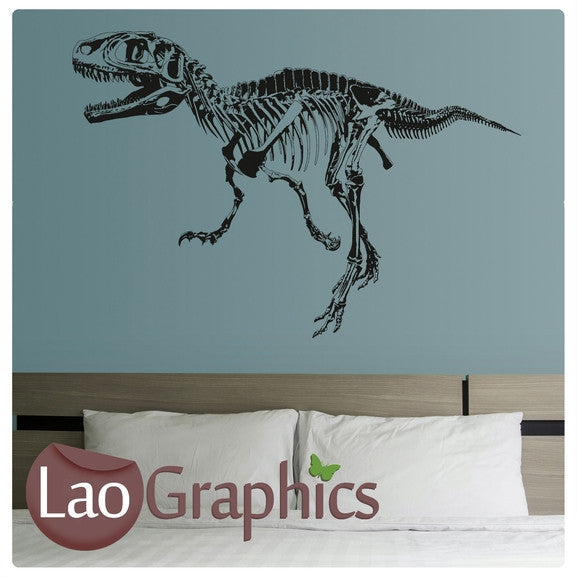 Tyranosaurus Rex Skeleton Boys Bedroom Wall Stickers Home Decor Art Decals-LaoGraphics