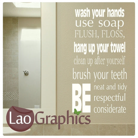 Use Soap Bathroom Quote Wall Sticker Home Decor Art Decals-LaoGraphics