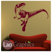 Velocirapter Dinosaur Boys Bedroom Wall Stickers Home Decor Art Decals-LaoGraphics