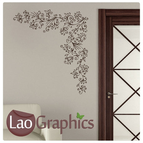 Vine Reeds Large Modern Wall Stickers Home Decor Art Decals-LaoGraphics