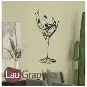 Wine Glass Large Kitchen Wall Stickers Home Decor Art Decals-LaoGraphics