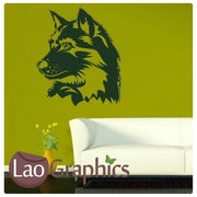Wolf Head Wild Animals Wall Stickers Home Decor Art Decals-LaoGraphics
