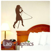 Woman Singer Musical Wall Stickers Home Decor Music Art Decals-LaoGraphics