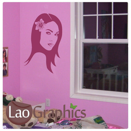 Womans Head Hairdressing Girls Hair & Beauty Wall Stickers Home Decor Art Decals-LaoGraphics