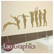 Women Diving Vinyl Transfer Wall Stickers Home Decor Art Decals-LaoGraphics