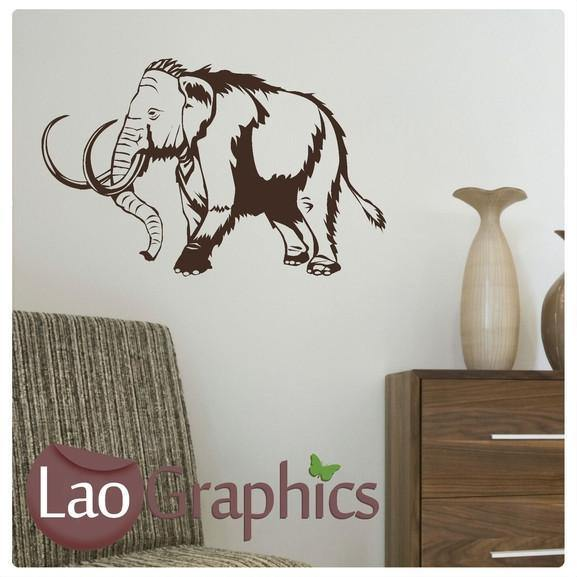 Wooly Mammoth Boys Bedroom Wall Stickers Home Decor Art Decals-LaoGraphics