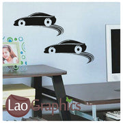 x2 Bargain Cars Vehicle Transport Wall Stickers Home Decor Art Decals-LaoGraphics