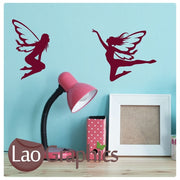 x2 Bargain Fairies Wall Stickers Home Decor Art Decals-LaoGraphics
