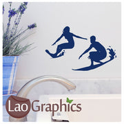 x2 Bargain Surfers Extreme Sports Wall Stickers Home Decor Art Decals-LaoGraphics