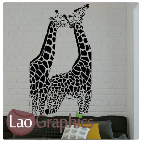 x2 Giraffe Wild Animals Wall Stickers Home Decor Africa Art Decals-LaoGraphics