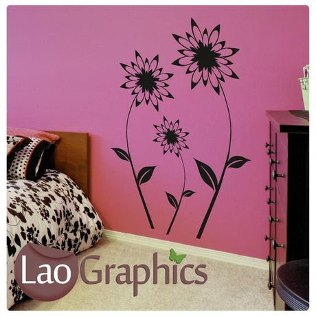 x3 Dandelion Flower Modern Interior Wall Stickers Home Decor Art Decals-LaoGraphics