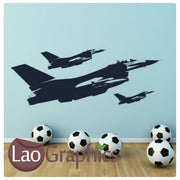 x3 Fighter Planes Military & Army Wall Stickers Home Decor Art Decals-LaoGraphics