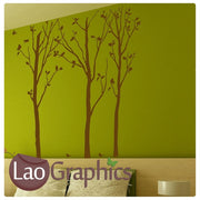 x3 Trees Nature Wall Stickers Home Decor Large Tree Art Decals-LaoGraphics