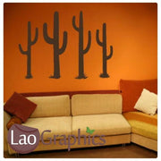 x4 Cactus Tree Wall Stickers Home Decor Art Decals-LaoGraphics