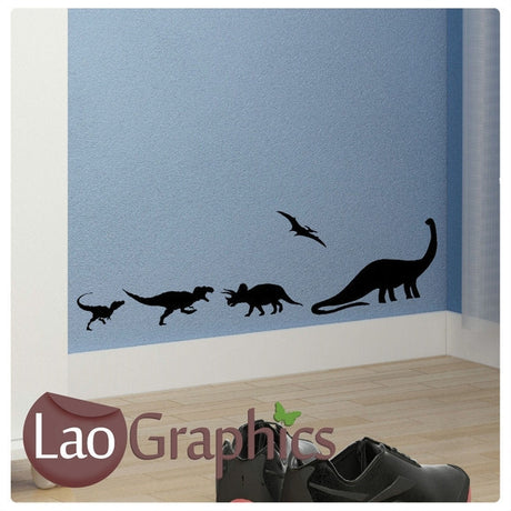 x5 Bargain Dinosaurs Boys Bedroom Wall Stickers Home Decor Art Decals-LaoGraphics