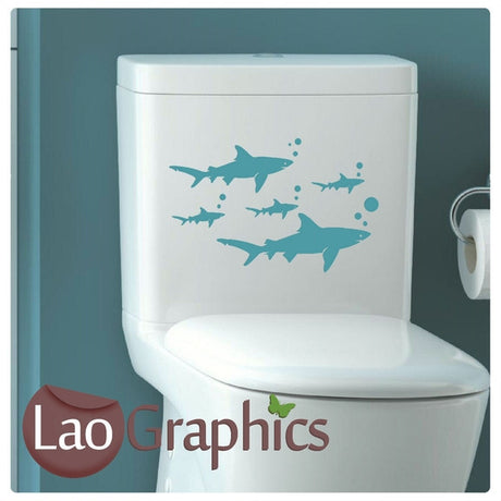 x5 Bargain Sharks Discount & Cheap Wall Stickers Home Decor Art Decals-LaoGraphics
