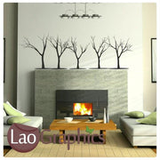 x5 Trees Nature Wall Stickers Home Decor Large Tree Art Decals-LaoGraphics