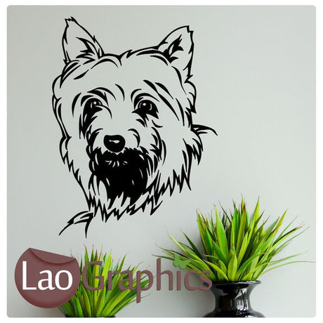 Yorkshire Terrier Canine Puppy Dog Lovers Wall Stickers Home Decor Art Decals-LaoGraphics