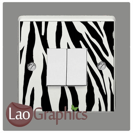 Zebra Skin Light Switch African Wild Animals Wall Stickers Art Decals-LaoGraphics