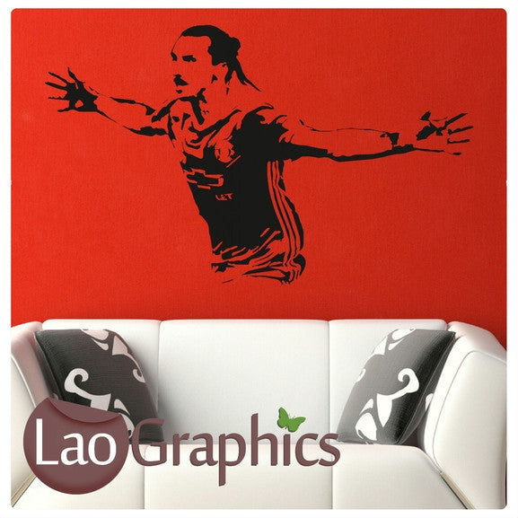 Zlatan Ibrahimavic Famous Footballer Wall Stickers Home Decor Art Decals-LaoGraphics