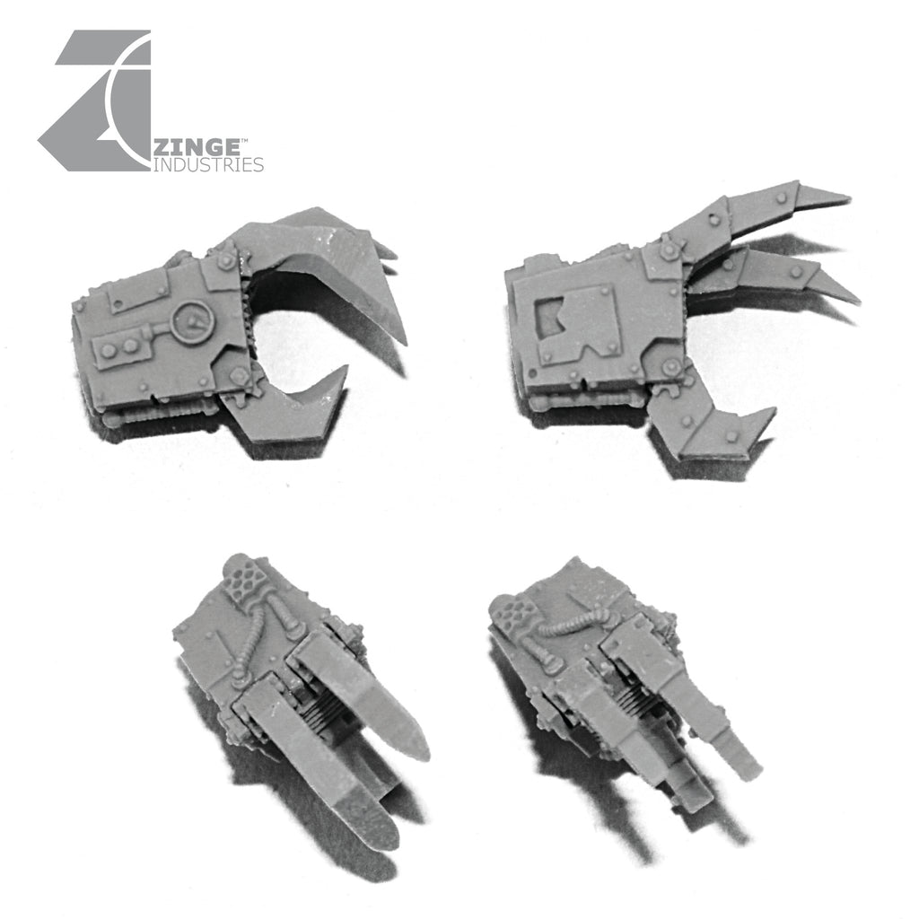 Ramshackle Mechanical Orc Claws Large Size Sprue set of 2